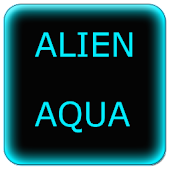 Alien Aqua Keyboard Skin