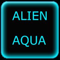 Alien Aqua Keyboard Skin 1