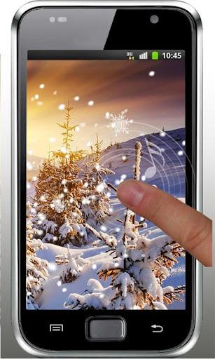 Winter Sunset live wallpaper