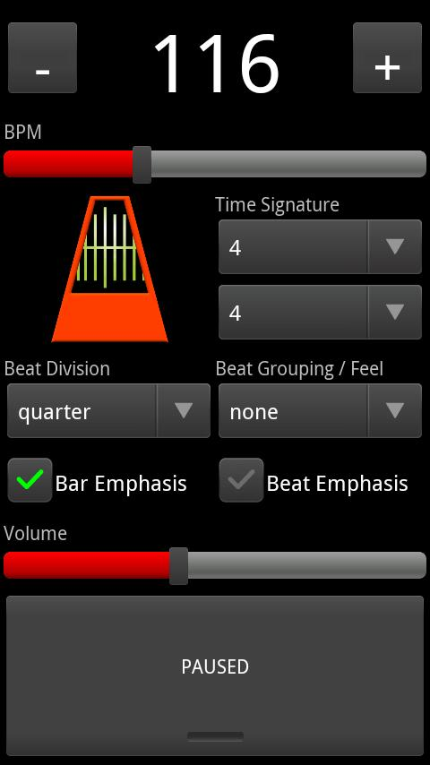 Click Track (Metronome) - screenshot