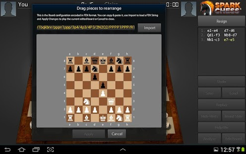 SparkChess HD Lite - screenshot thumbnail