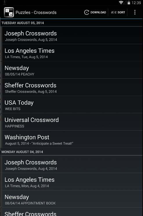 Crosswords Puzzles Free Daily- screenshot