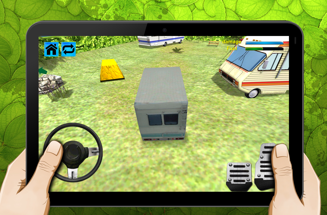 Screenshots of Camping RV Caravan Parking 3D for iPhone