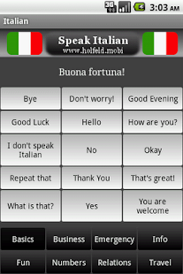 Speak Italian Free - screenshot thumbnail