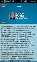 Screenshot of FBINAA Mobile Membership