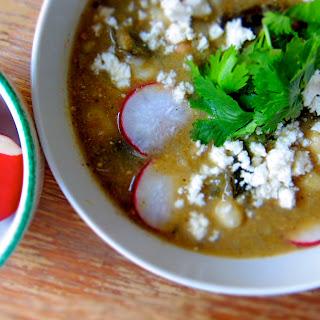 Vegetarian Green Tomatillo + Poblano Chili.