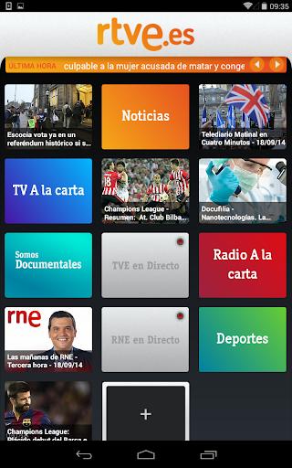RTVE.es Tableta