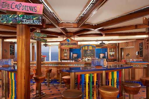 Carnival-Breeze-Blue-Iguana-Bar - Relax with a drink in the Blue Iguana Bar when you sail on Carnival Breeze.