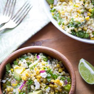 Charred Corn Salad with Feta, Mint and Quinoa.