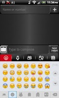 Screenshot of GO SMS THEME Red Metal