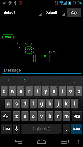 Cowsay for Android 1.4 screenshots 1