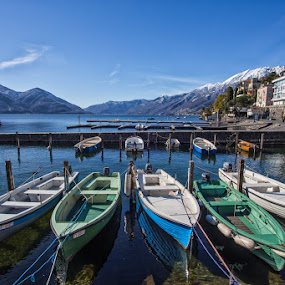 Swiss boats by Nicola Ibba - Transportation Boats ( ticino, ascona, 2015, boats, switzerland )