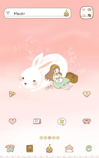 Travel with rabbit Dodol Theme