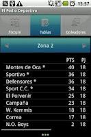 Screenshot of Cañada de Gómez Soccer League