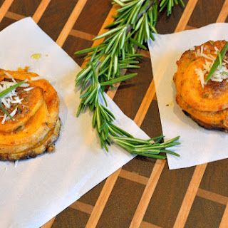 Rosemary Parmesan Sweet Potato Stacks