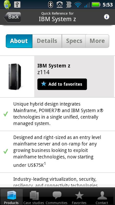 System Z Quick Reference - screenshot