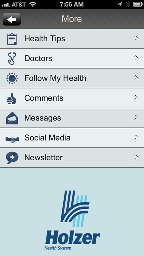 Holzer Health System - screenshot