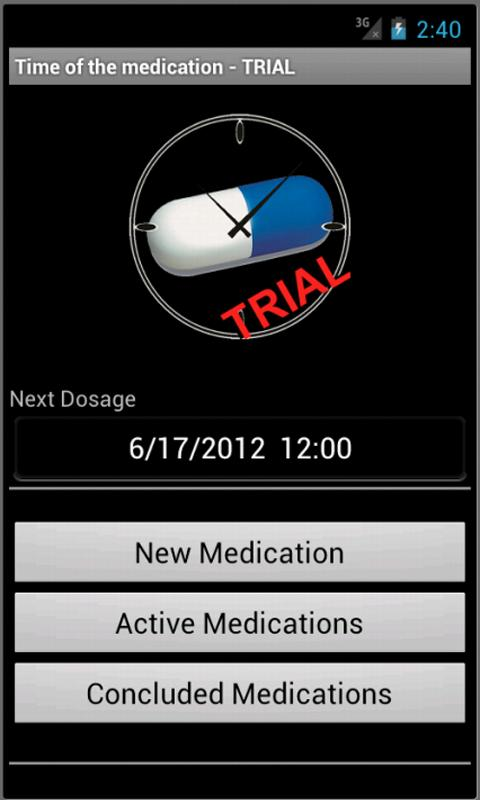 Time of the Medication - Trial - screenshot