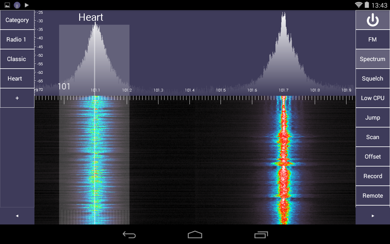 SDR Touch - Live radio via USB - screenshot