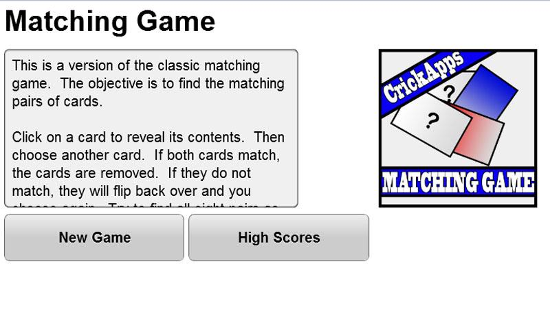 Matching Game - screenshot
