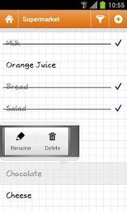 Grocery list Courzeo- screenshot thumbnail