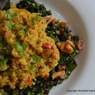 Quinoa Pilaf with Curry Powder.