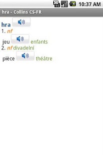 French<>Czech Gem Dictionary - screenshot thumbnail