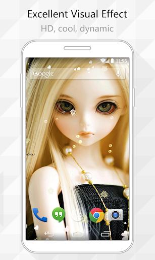 Flower Doll Live Wallpaper