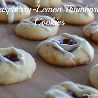 Raspberry-Lemon Thumbprint Cookie.