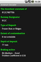 Screenshot of Snowtam Decoder