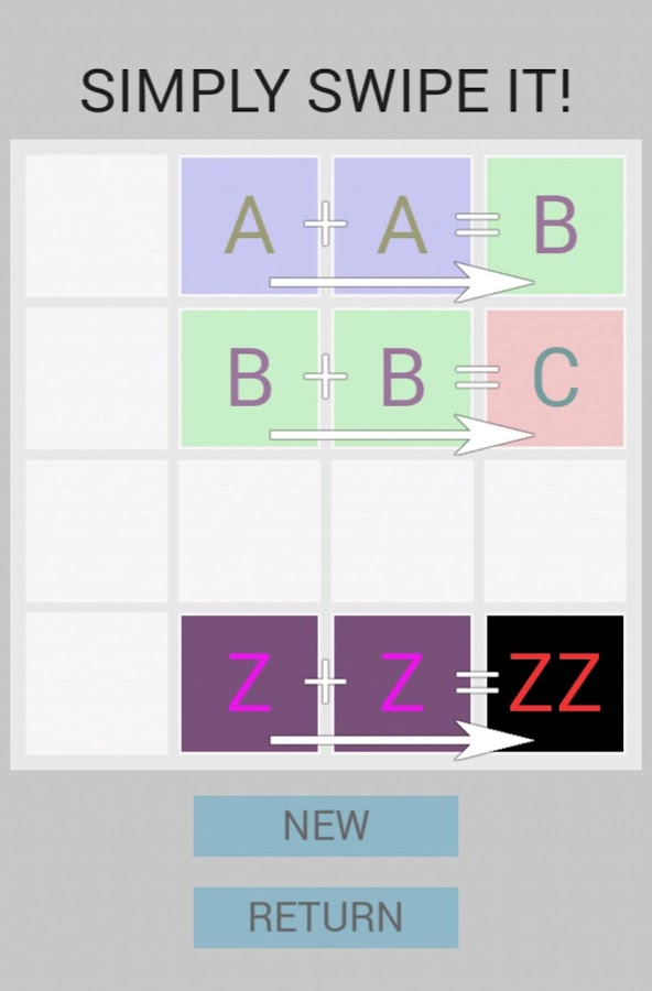 Alphabet 2048- screenshot