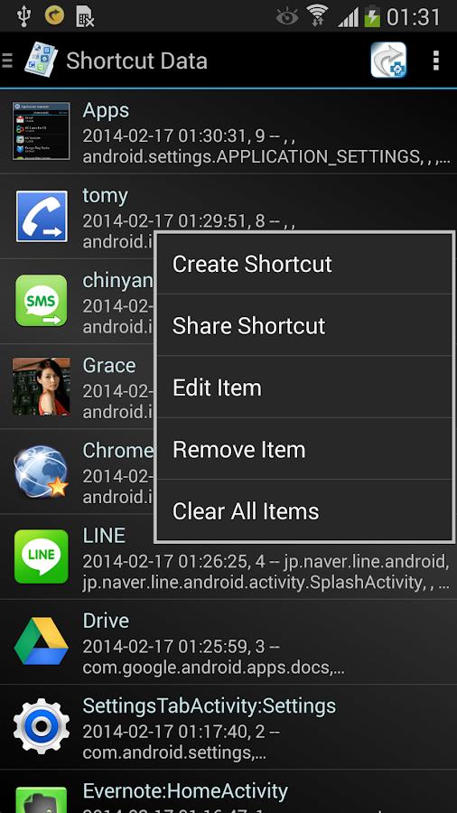 xShortcut FREE - screenshot