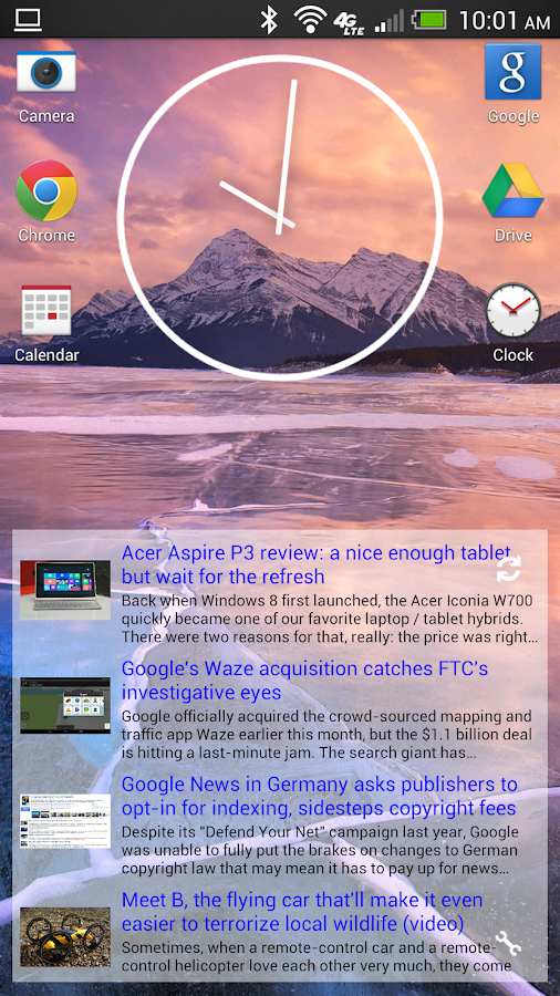 Simple RSS Widget - screenshot