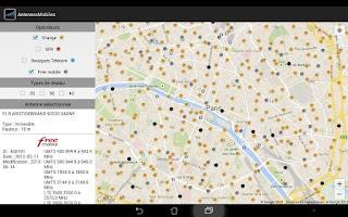 Screenshot of Carte Antennes Mobiles
