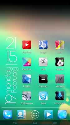 Kitkat material glow HD icons - screenshot