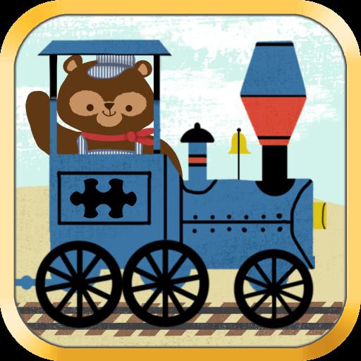 兒童火車遊戲:動物園鐵路汽車拼圖 - 教育 版 LOGO-APP點子