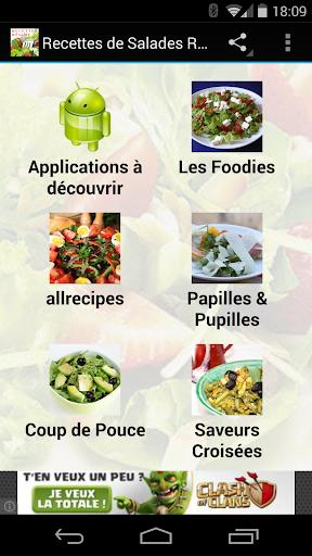 Recettes de salades régime