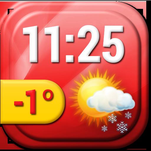 甜蜜的時鐘天氣小工具 天氣 App LOGO-APP試玩