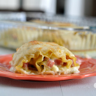 Ham and Swiss Lasagna Rolls