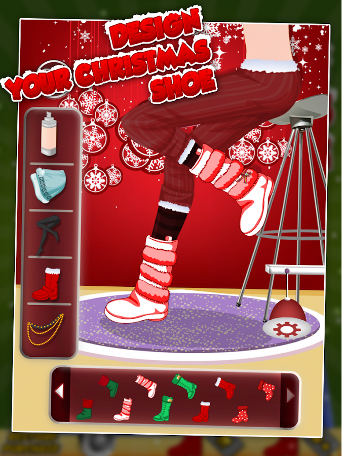 Design Your Christmas Shoe- screenshot