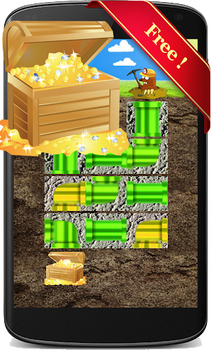 Gold Miner Pipes Brain Game