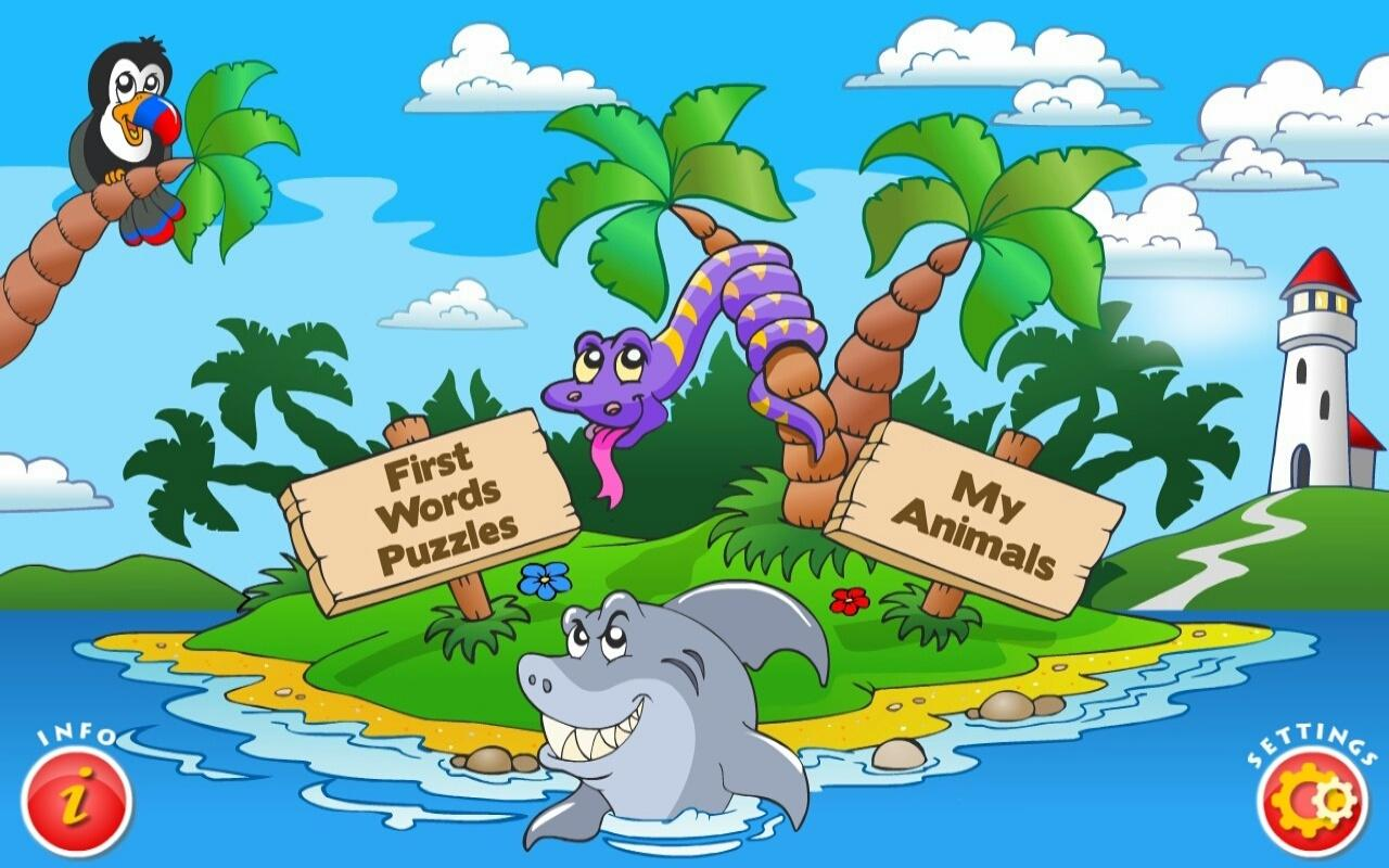 Kids Animal Word Puzzles