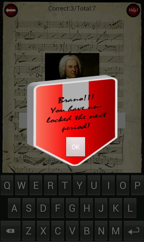 Composer Quiz - στιγμιότυπο οθόνης