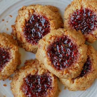 Coconut, Almond, and Raspberry Jam Thumbprint Cookies Recipe
