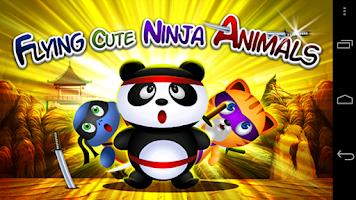 Screenshot of Flying Cute Ninja Animals Saga