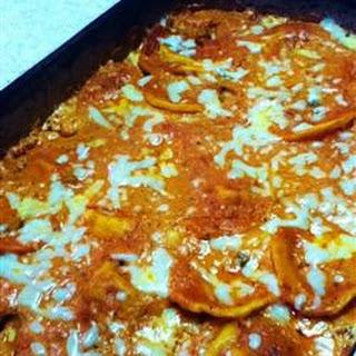 Homemade Four Cheese Ravioli.