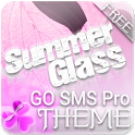 Pink Summer Free GO SMS Theme icon