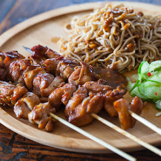 Chicken Satay with Peanut Noodles.