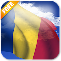 3D Romania Flag icon