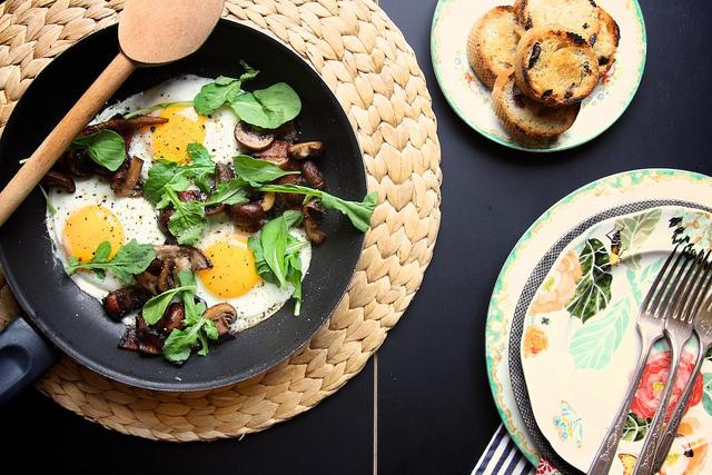 Mushroom and Bacon Breakfast Skillet Recipe